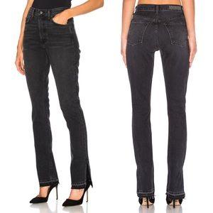 NWT GRLFRND Natalia High Rise Split Hem Jeans
